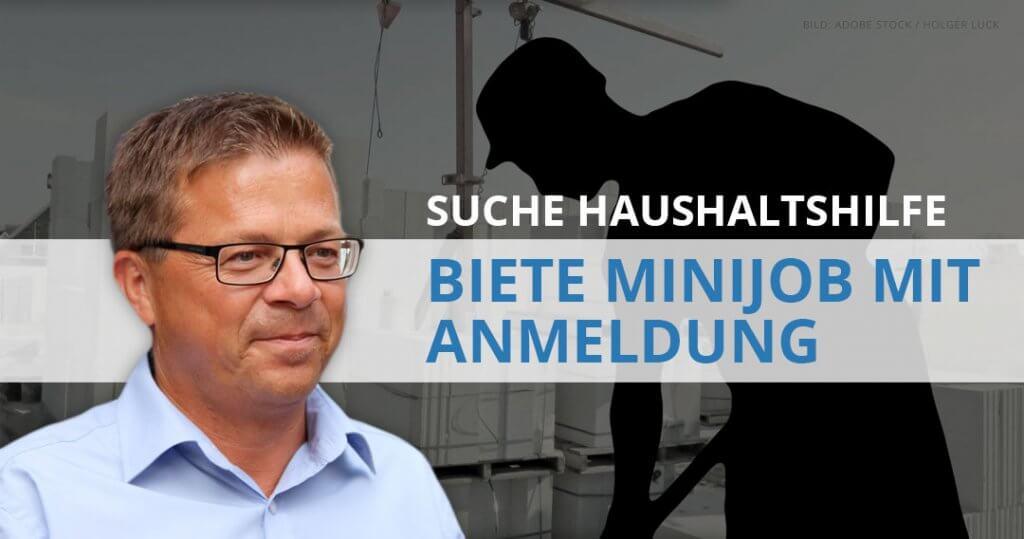 Claus Preuss: Suche Haushaltshilfe-–-biete Minijob mit Anmeldung